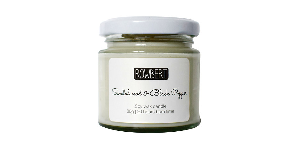 Sandalwood & Black Pepper Candle (Small)
