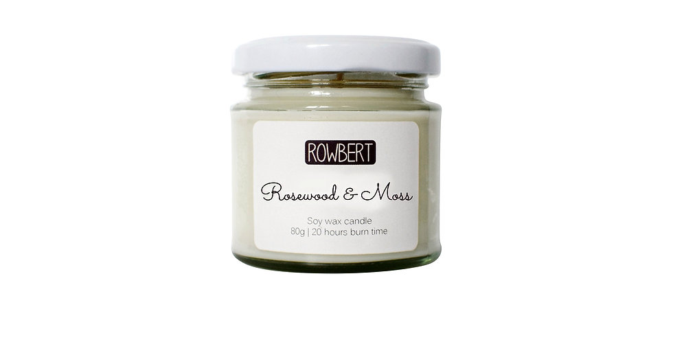Rosewood & Moss Candle (Small)
