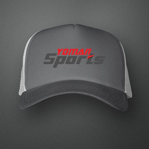 YoMan Sports Logo Charcoal/White Trucker Hat