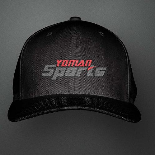 YoMan Sports Logo Black Cap