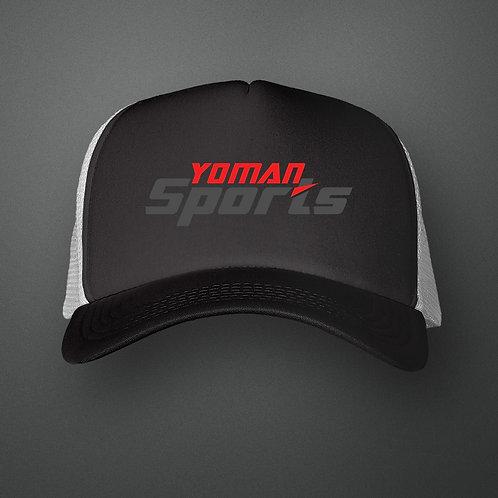 YoMan Sports Logo Black/Charcoal Trucker Hat