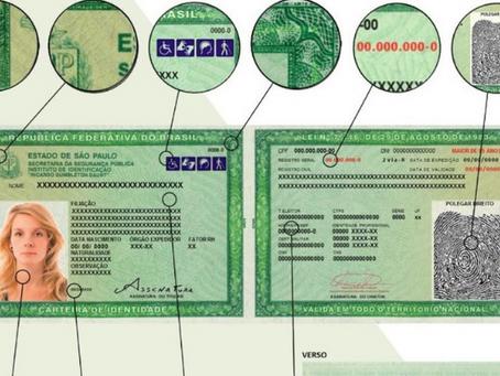 Nova carteira de identidade começa a ser emitida em SP a partir desta terça-feira