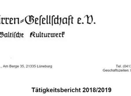 Tätigkeitsbericht der Carl-Schirren-Gesellschaft für 2019/2020 online!