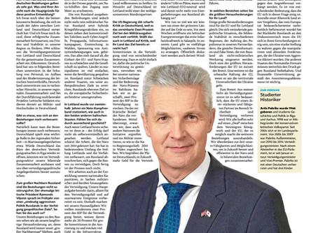 Interview der Landeszeitung mit Artis Pabriks