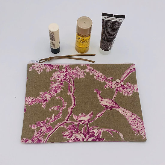 Trousse à maquillage Ludivine fond lin