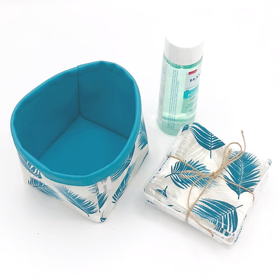 Lot vide poche et 7 lingettes démaquillantes Nassau turquoise