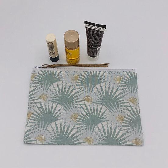 Trousse à maquillage Palmette vert d'eau