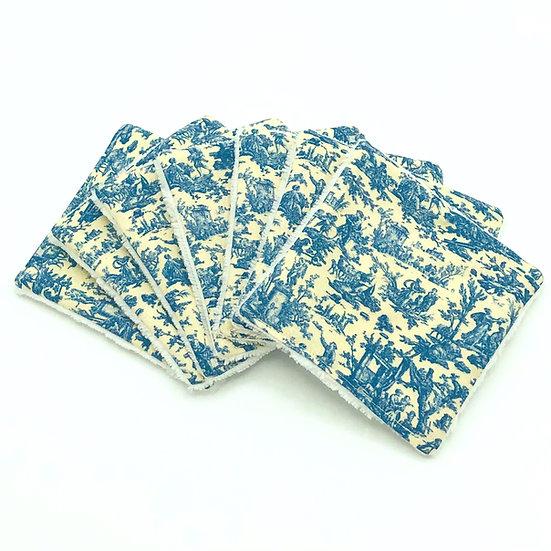 Lot de 7 lingettes démaquillantes Offrande à l'amour bleu