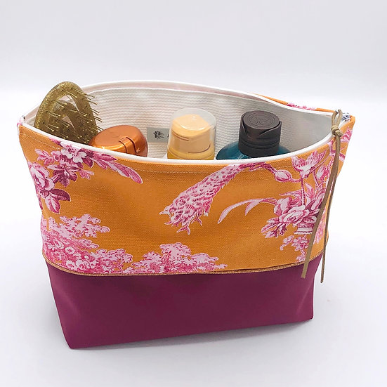 Trousse de toilettes Ludivine Orange Petit format