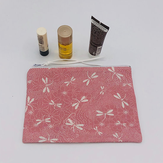 Trousse à maquillage Rose libellule
