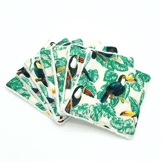 Lot de 7 lingettes démaquillantes Toucan
