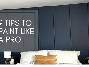 9 Tips to Paint Like a Pro