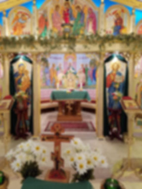 iconostasis at Saints Cyril and Methodius Byzantine Catholic Church in Fort Pierce Florida