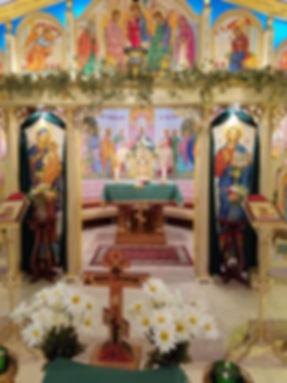iconostasis at Saints Cyril and Methodius Byzantine Catholic Church in Fort Pierce Florida