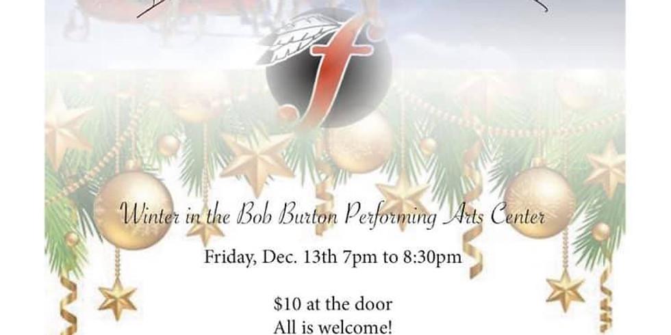 Winter in the Bob Burton Performing Arts Center