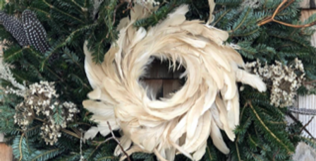 Holiday Feather Wreath