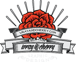Wray and Cherry Graphic Design Logo