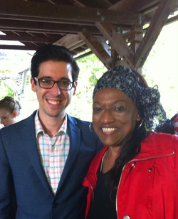 With Jessye Norman