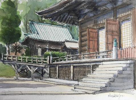 冬の中山法華経寺.JPG