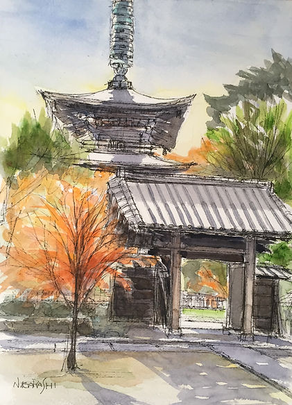 紅葉の豪徳寺.JPG