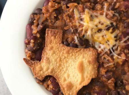 Texas Veggie Chili: A Skin Saving Supper