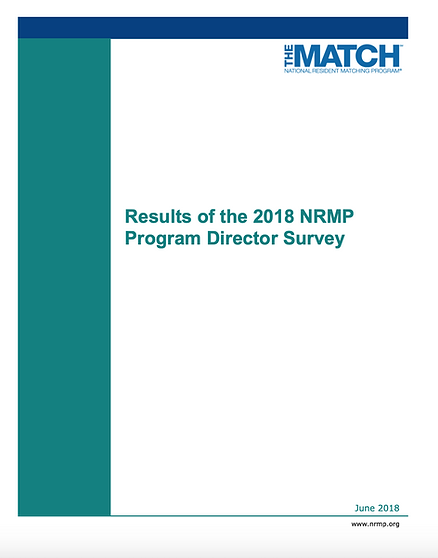 Results of the 2018 NRMP Program Directo