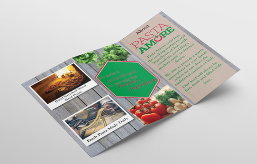 Pasta Amore Brochure Mockup