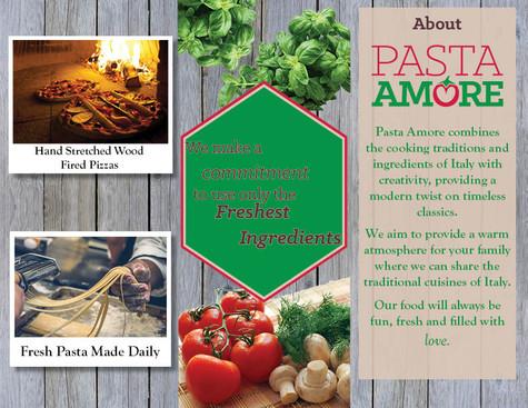 Pasta Amore Brochure Inside