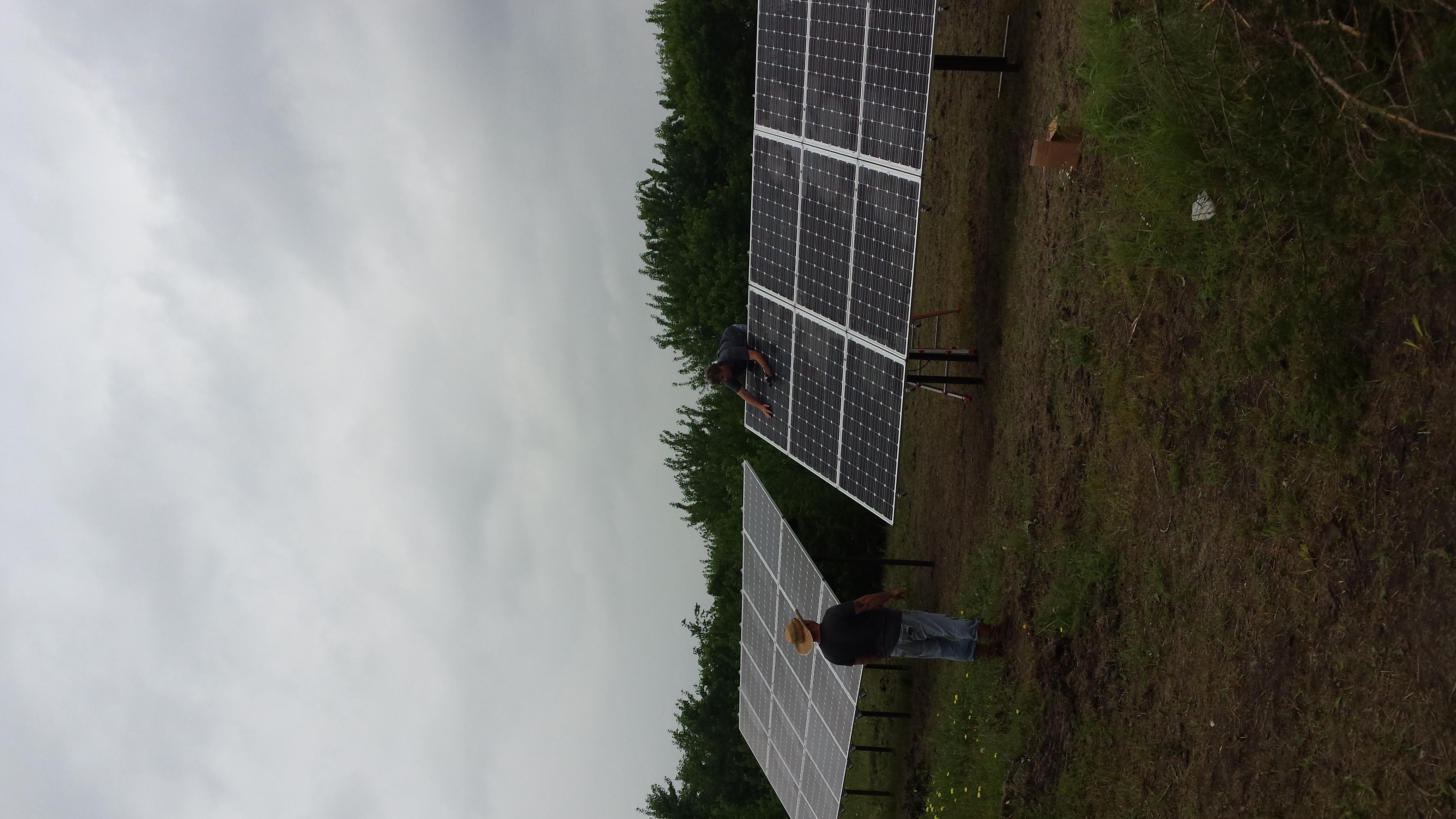 7kW off-grid system, Celeste, TX
