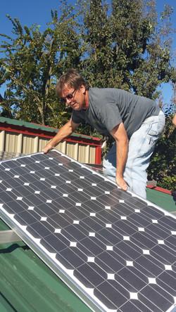 Installing solar at Lake Hudson