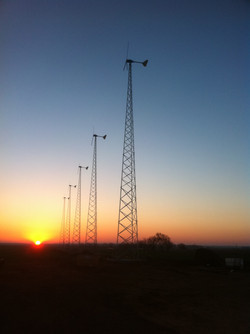 5 Bergey Turbines, Drummond, OK