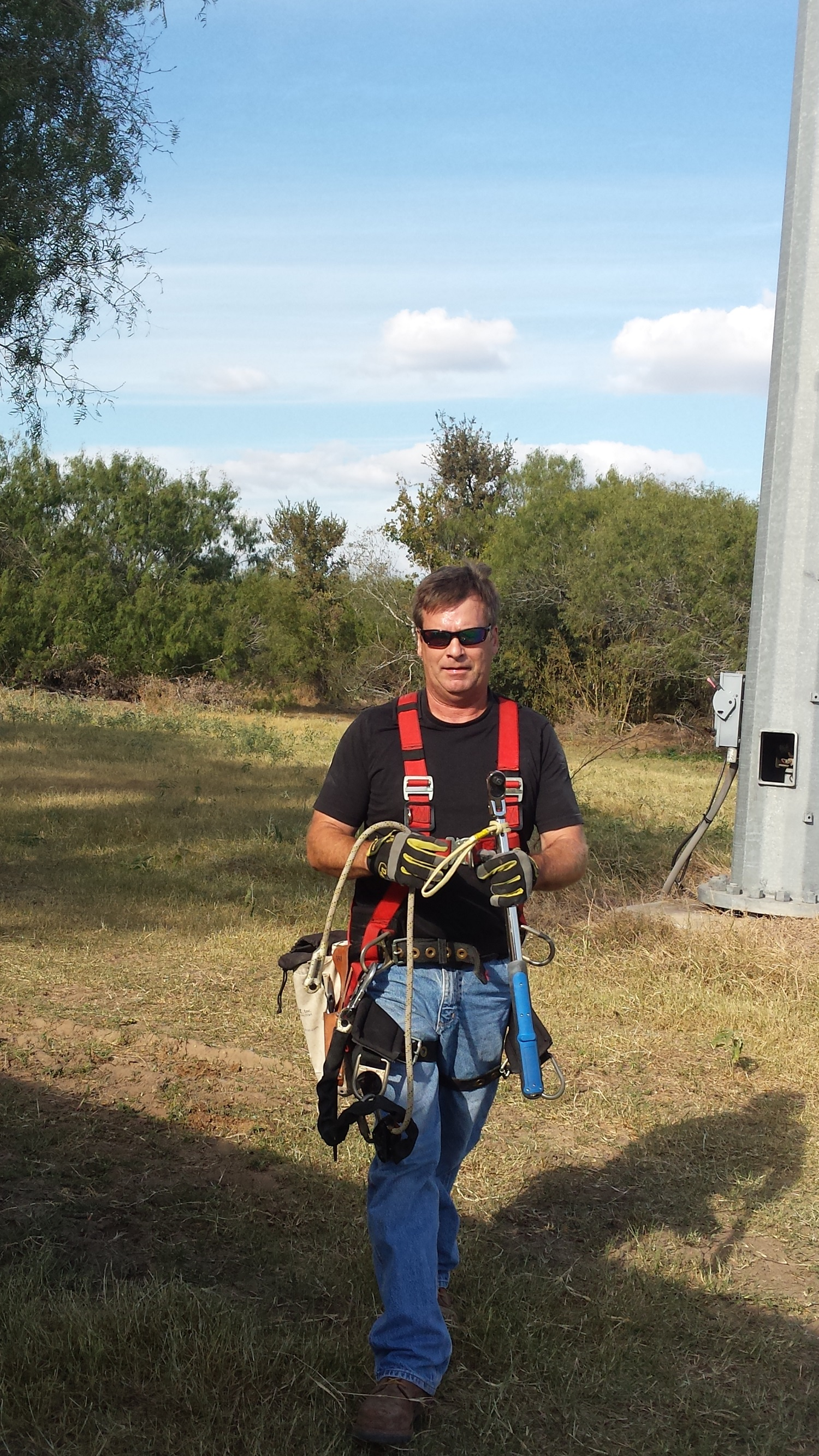 Pieter in safety harness