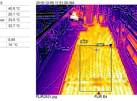 HPC Installation Thermal Image with Cels