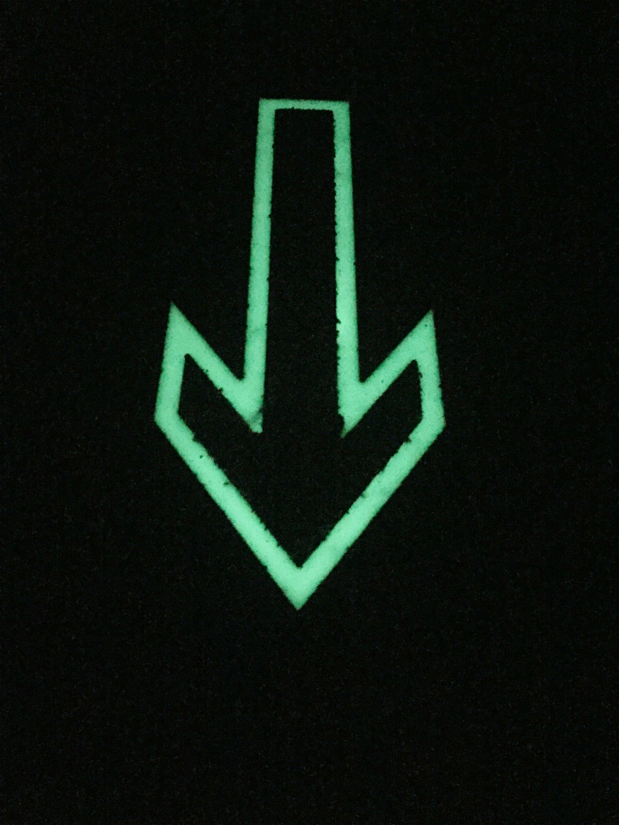 Glow in the Dark Direction Arrows