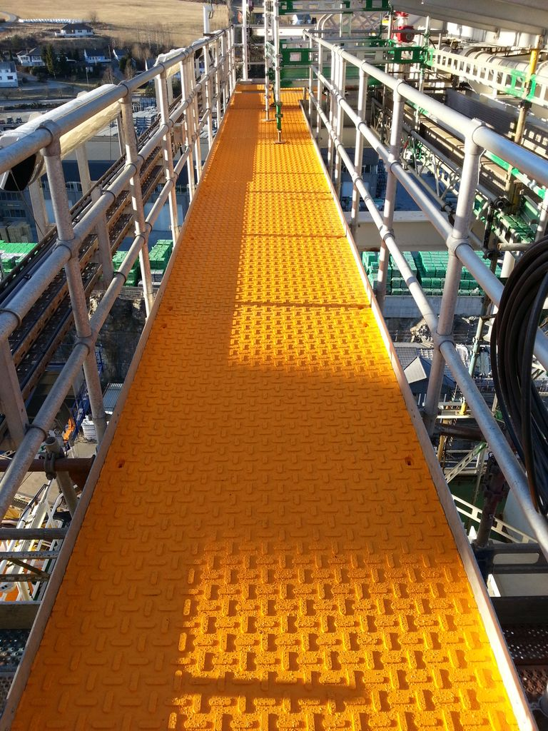 Heli-deck Egress Route