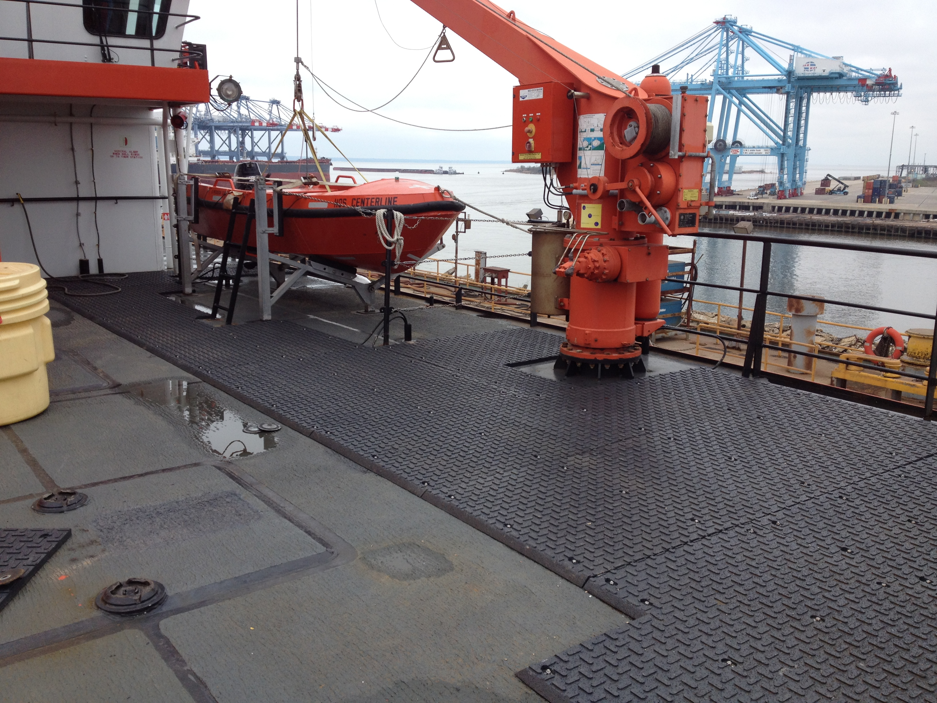 Heated Life Boat Matting Area