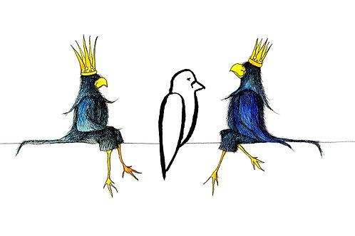 Postcard: Crows – Kristina Elo