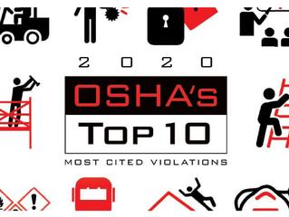 10 PELANGGARAN TERBANYAK DI TAHUN 2020 BERDASARKAN CATATAN OSHA