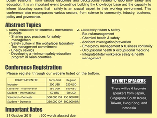 2nd Asian Conference on Safety & Education in Laboratory