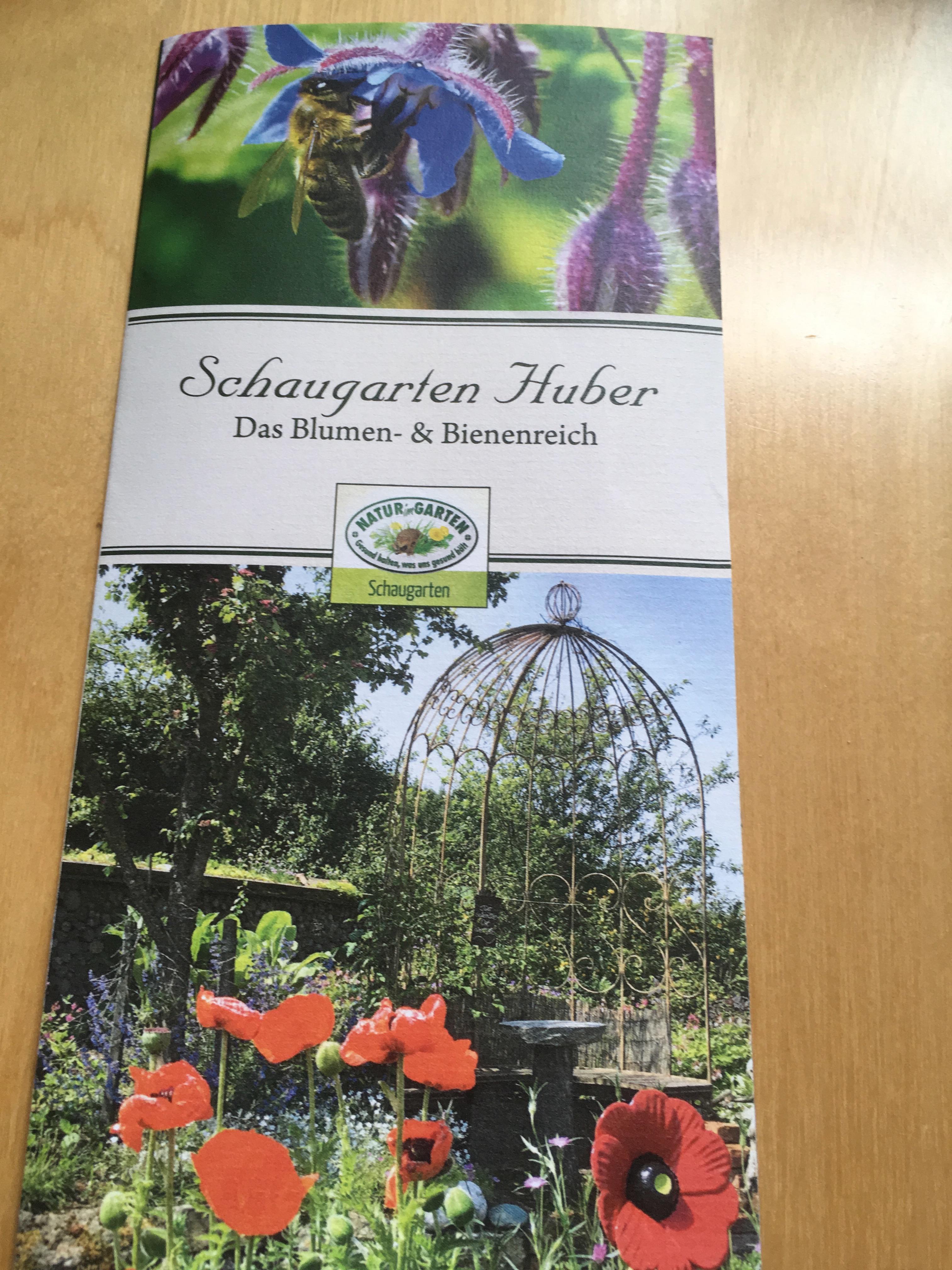 Neuer Schaugarten - Folder ist da!