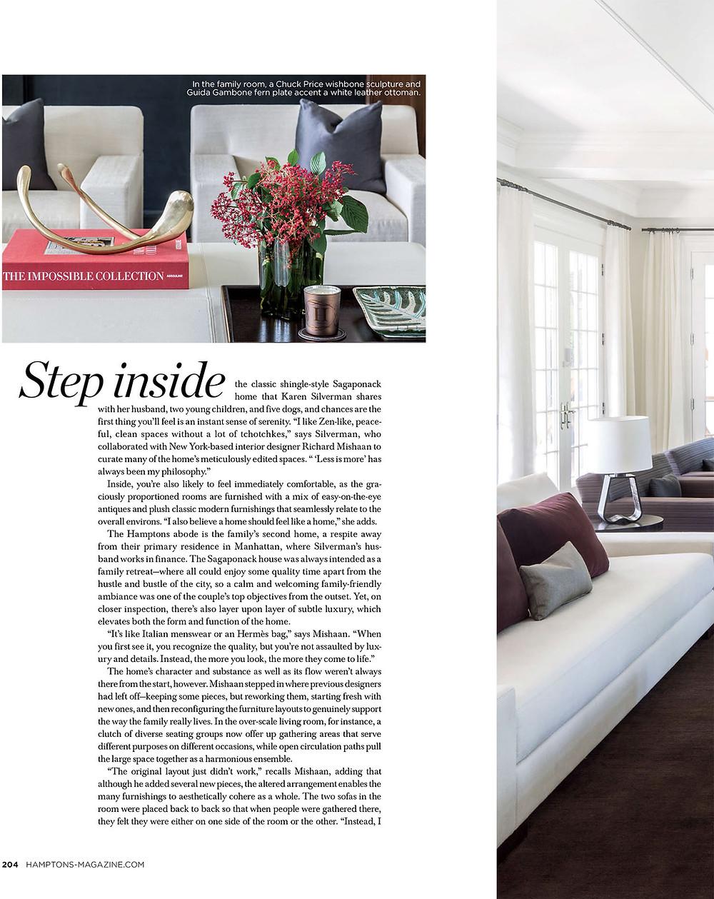 Richard Mishaan Hamptons Magazine