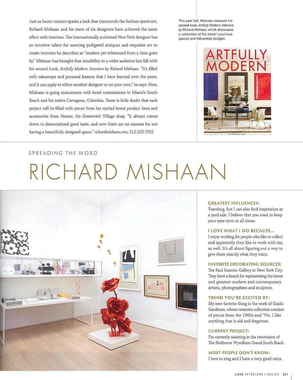 Richard Mishaan Luxe Magazine