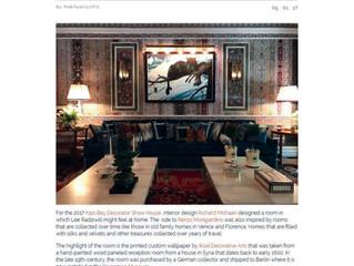 """Habitually Chic, May 1, 2017: """"""""Richard Mishaan's Patterned Parlor Room"""""""