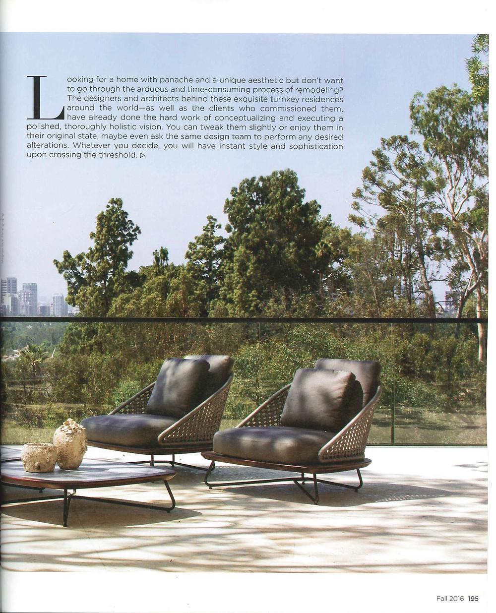 Richard Mishaan Design Luxury Magazine Fall 2016