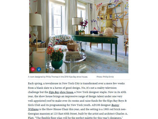 """Architectural Digest, March 13, 2017: """"Announcing the 2017 Kips Bay Show House Designers"""""""