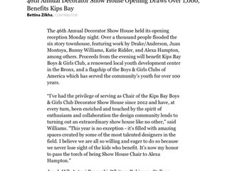 "Forbes, May 1st 2018: ""46th Annual Decorator Show House Opening Draws over 1,000, Benefits Kips"