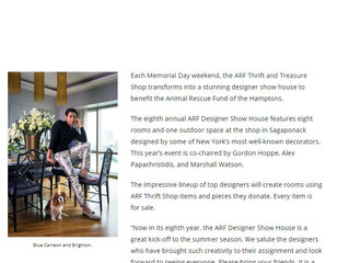"""The Independent, May 23rd 2018:  """"Designer Showhouse to Benefit ARF"""""""