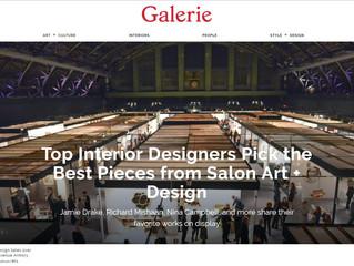 "Galerie Magazine, ""Top Interior Designers Pick the Best Pieces From Salon Art Design"""