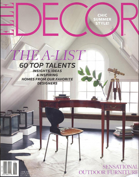 Elle Decor A List June 2012 cover