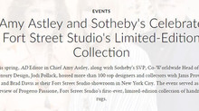 "Architectural Digest, June 28th 2018: ""Amy Astley and Sotheby's Celebrate Fort Street Studi"